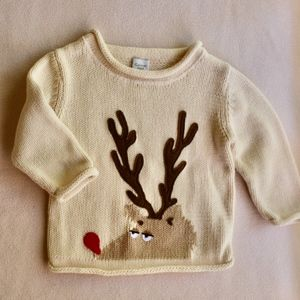 Garnet Hill Kids' Rudolph Sweater